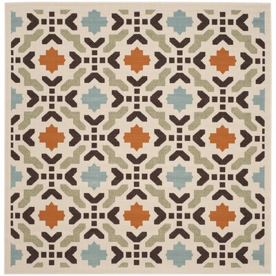 Clermont Cream Indoor/Outdoor Area Rug Rug Size: Square 67