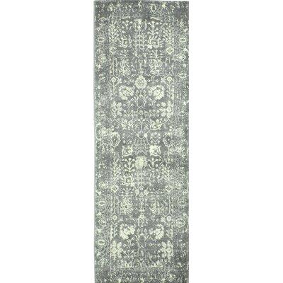 Arlingham Gray Area Rug Rug Size: Runner 26 x 8