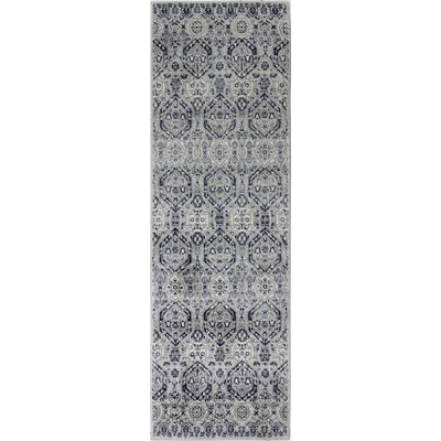 Felicienne Silver Area Rug Rug Size: Runner 27 x 8