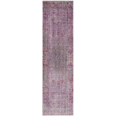 Doline Purple Area Rug Rug Size: Runner 23 x 12