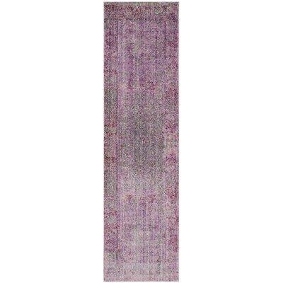 Doline Purple Area Rug Rug Size: Runner 23 x 8