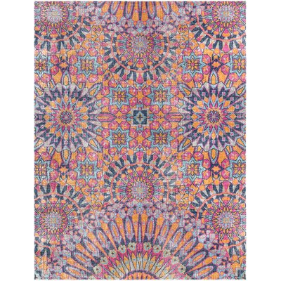 Fredonia Pink/Blue Area Rug Rug Size: Rectangle 710 x 103