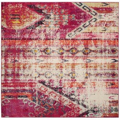 Elston Tibetan Pink Area Rug Rug Size: Square 5