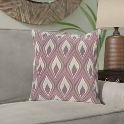 Shivani Geometric Print Outdoor Pillow Color: Mulberry, Size: 16 H x 16 W x 1 D