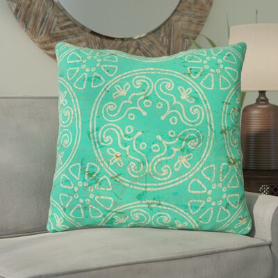 Theo Printed Throw Pillow Size: 14 H x 14 W x 3 D, Color: Teal