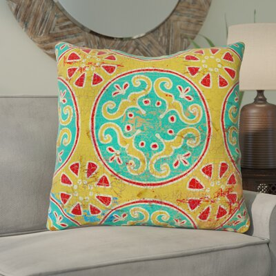 Theo Printed Throw Pillow Size: 16 H x 16 W x 4 D, Color: Multi