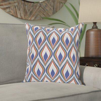 Shivani Geometric Print Outdoor Pillow Size: 18 H x 18 W x 1 D, Color: Blue Suede