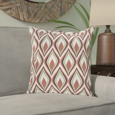 Shivani Geometric Print Outdoor Pillow Color: Mahogany, Size: 18 H x 18 W x 1 D