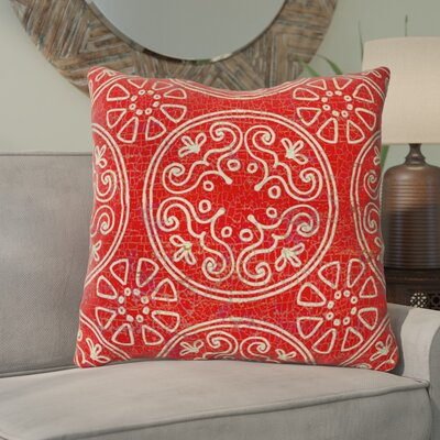 Theo Printed Throw Pillow Size: 26 H x 26 W x 7 D, Color: Rust
