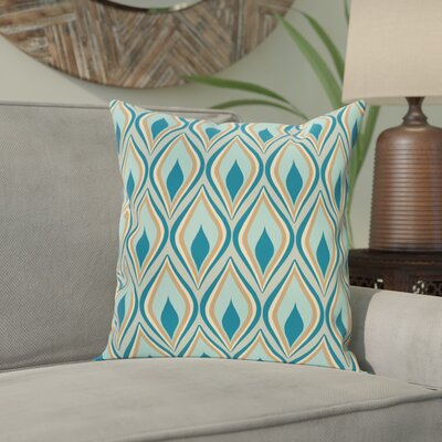 Shivani Geometric Print Outdoor Pillow Color: Teal, Size: 20 H x 20 W x 1 D