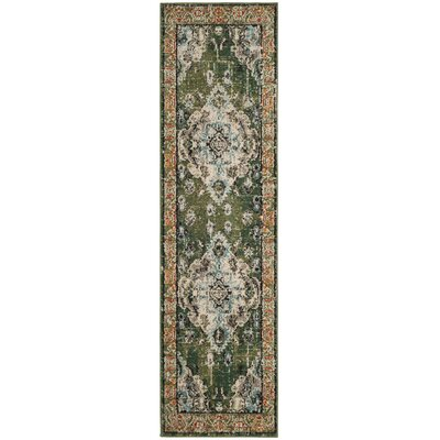 Newburyport Green Area Rug Rug Size: Runner 22 x 8