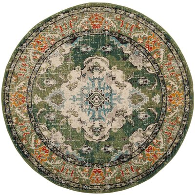 Newburyport Green Area Rug Rug Size: Round 67