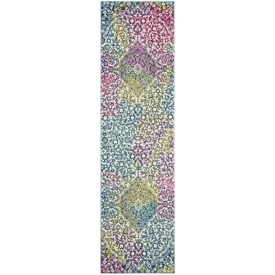 Shaddix Beige/Green/Purple Area Rug Rug Size: Runner 22 x 6