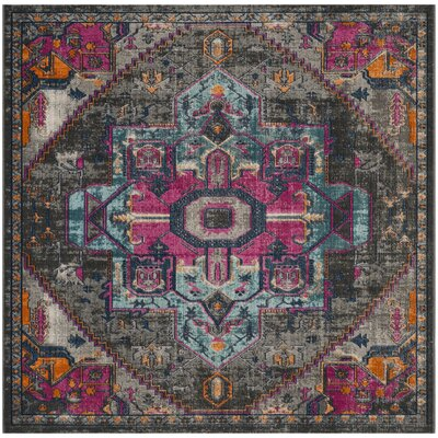 Bunn Light Gray/Blue/Pink Area Rug Rug Size: Square 67