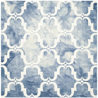 Hand-Tufted Blue/Ivory Area Rug Rug Size: Square 7