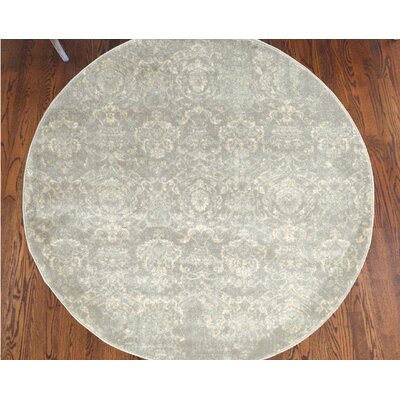 Becket Gray Area Rug Rug Size: Round 5'3