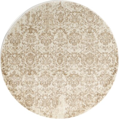 Kingfisher Bone Area Rug Rug Size: Round 67