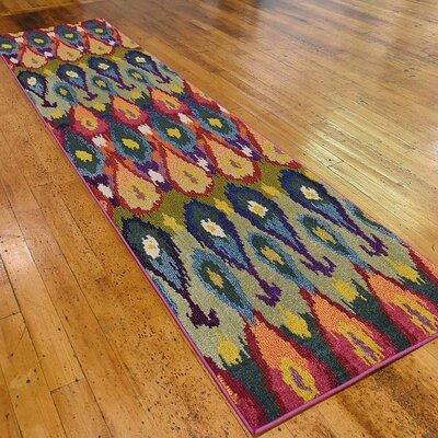 Radeema Ikat Area Rug Rug Size: Runner 27 x 10