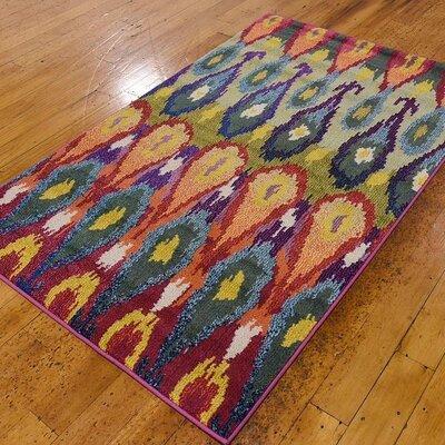 Radeema Ikat Area Rug Rug Size: 33 x 53