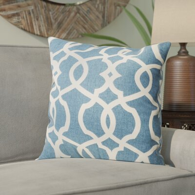 Calumet Throw Pillow Cover Color: Blue