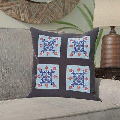 Shivansh Geometric Print Outdoor Pillow Color: Sky, Size: 18 H x 18 W x 1 D