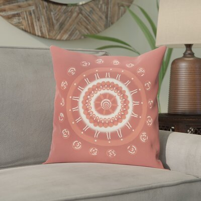 Nandai Geometric Print Outdoor Pillow Color: Burnt, Size: 16 H x 16 W x 1 D
