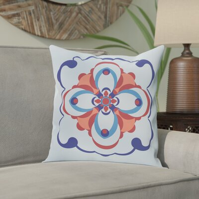 Souihla Too Geometric Print Outdoor Pillow Color: Faded Glory, Size: 18 H x 18 W x 1 D