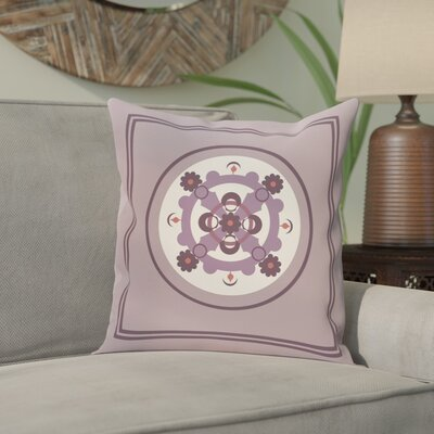 Souihla Geometric Print Outdoor Pillow Size: 18 H x 18 W x 1 D, Color: Smog