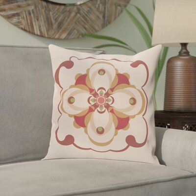 Souihla Too Geometric Print Outdoor Pillow Color: Brick, Size: 18 H x 18 W x 1 D