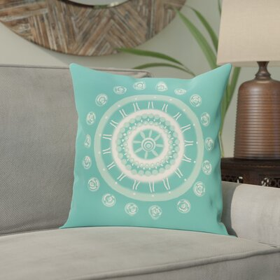 Nandai Geometric Print Outdoor Pillow Color: Jade, Size: 18 H x 18 W x 1 D