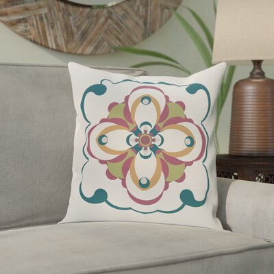 Souihla Too Geometric Print Outdoor Pillow Color: Deep Sea, Size: 18 H x 18 W x 1 D