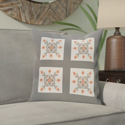 Shivansh Geometric Print Outdoor Pillow Size: 20 H x 20 W x 1 D, Color: Steel Gray
