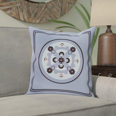 Souihla Geometric Print Outdoor Pillow Color: Cornflower, Size: 18 H x 18 W x 1 D