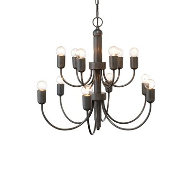 Lagunas 1-Light Candle Chandelier Finish: Oiled Bronze