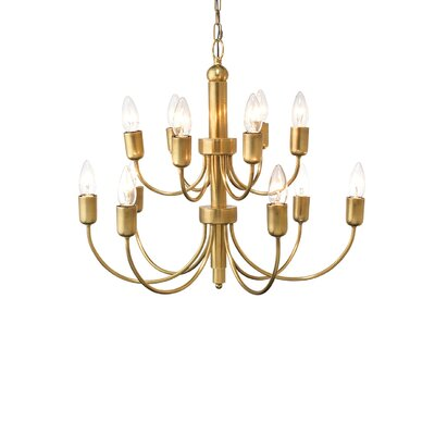 Lagunas 1-Light Candle Chandelier Finish: Antique Brass