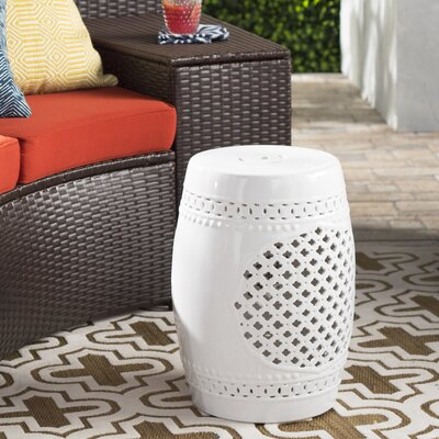 Delilah Garden Stool Finish: White