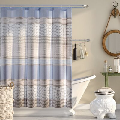 Karaman Cotton Printed Shower Curtain Color: Purple
