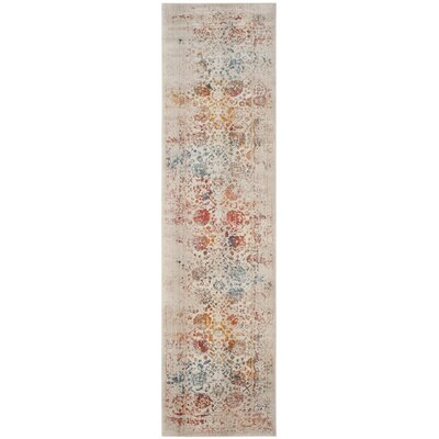 Luca Light Gray Area Rug Rug Size: Runner 22 x 12