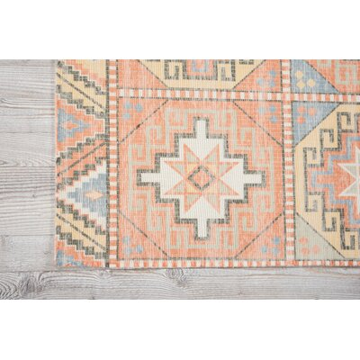 Peidmont Light Orange Area Rug Rug Size: 36 x 56