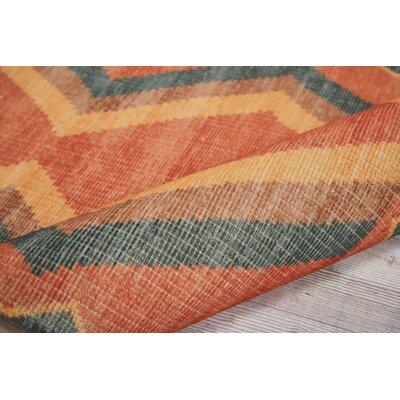 Joplin Tangerine Area Rug Rug Size: 36 x 56