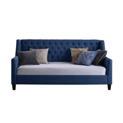 Sandoval Twin Size Tufted Daybed Color: Navy