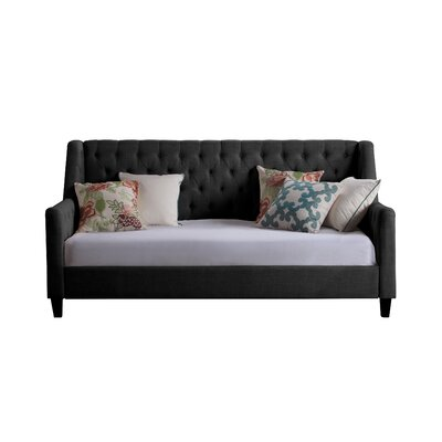 Pennington Twin Size Tufted Daybed Color: Charcoal