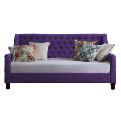 Sandoval Twin Size Tufted Daybed Color: Violet