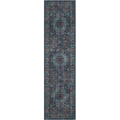 Bernice Blue Area Rug Rug Size: 9 x 12