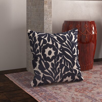 Ginger Cotton Pillow Cover Size: 22 H x 22 W x 1 D, Color: Blue