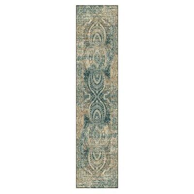 Kaetzel Beige/Blue Area Rug Rug Size: Runner 26 x 8