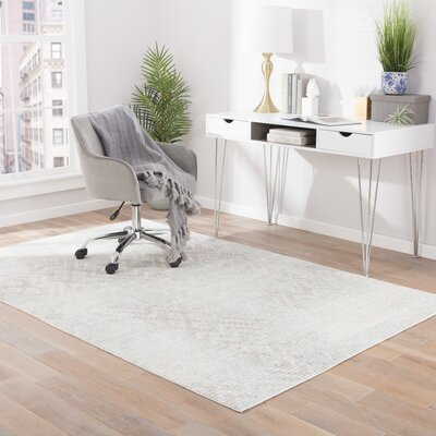 Javon Dove/Angora Area Rug Rug Size: Rectangle 2 x 3