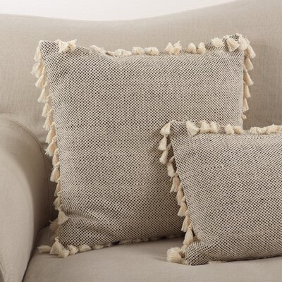 Charleena Boho Tassel Fringed Cotton Throw Pillow