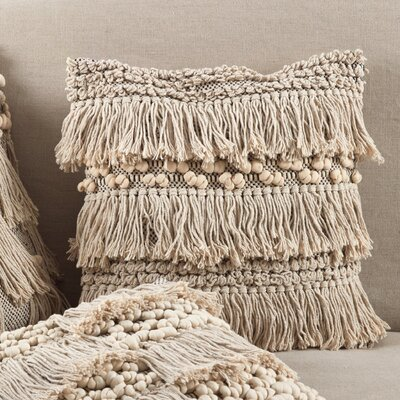 Charleena Moroccan Wedding Blanket Fringe Cotton Throw Pillow