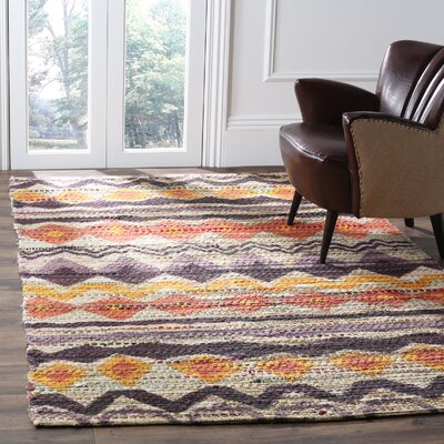 Veropeso Cotton Purple/Orange Area Rug Rug Size: Rectangle 4 x 6